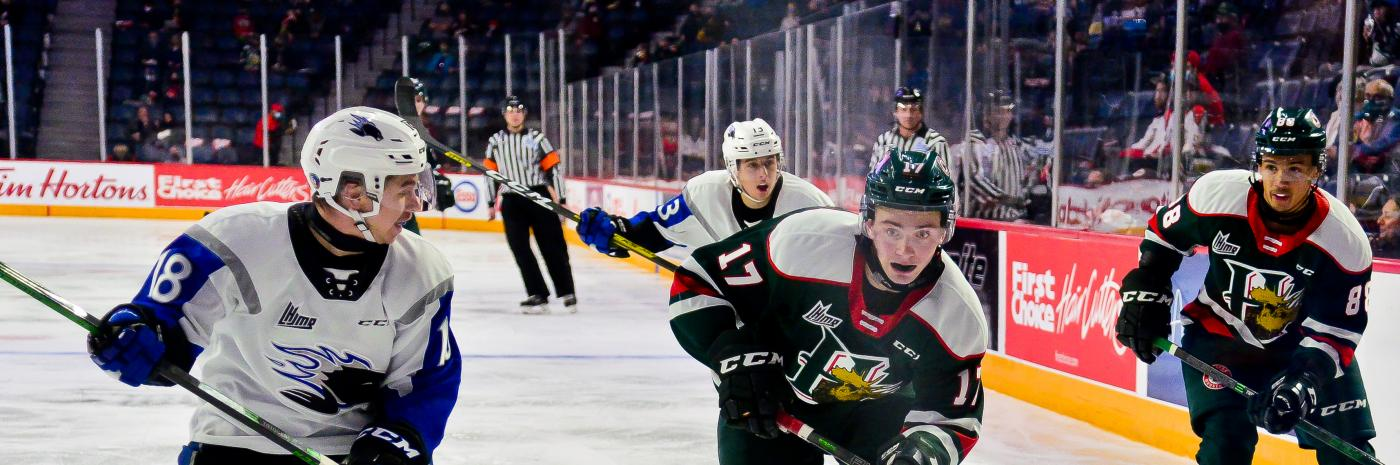 Image of the Halifax Mooseheads playing the Saint John Seadogs at Scotiabank Centre, November 9, 2020. Image: David Chan